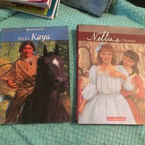 2 American Girl books Meet Kaya Nellie's Promise